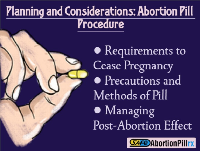 Planning and Considerations Abortion Pill Procedure